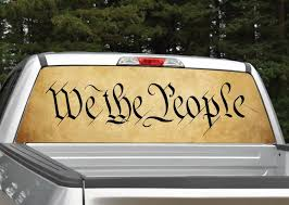 We The People Rear Window Graphic Decal Miller Graphics