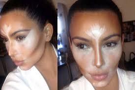 contouring from kim k s makeup teacher