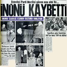 Geçmiş Gazete - Haber - İnönü kaybetti