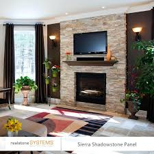 stone fireplace with tv full size of