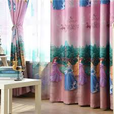 Hot Discount 244b American Style Princess Figure Blackout Curtains For Girl Bedroom Window Treatments Cartoon Tulle For Kids Room Cute Roman Blind Cicig Co