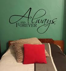 Always And Forever Master Bedroom Love Wall Decal Stickers Vinyl Wall Letters