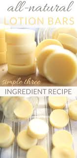the easiest homemade lotion bars with