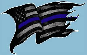 Thin Blue Line Usa American Flag Vinyl Die Cut Car Decal Sticker Police Lives