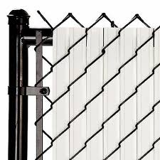 Chain Link White Solitube Max Privacy Slat For 4 Ft Fence Bottom Lock Ebay