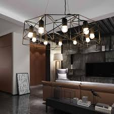 contemporary geometric chandelier light
