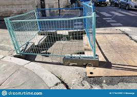 Protective And Safety Barrier On A Construction Site Stock Image Image Of Fence Construction 171613997