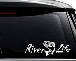 Amazon Com River Life Trout Fishing Decal Sticker For Use On Laptop Helmet Car Truck Motorcycle Windows Bumper Wall And Decor Size 6 Inch 15 Cm Wide Color Matte Black