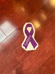 Epilepsy Awareness Ribbon Car Sticker Dark Or Light Purple Etsy