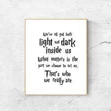 albus dumbledore quote harry potter wall art home decor