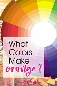 what colors make orange artsy sy