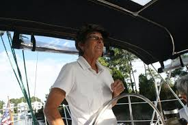 At the helm. By Adeline Perry - Picture of On The Wind Sailing Cruises, New  Bern - Tripadvisor