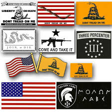 10 Vinyl Sticker Set Gadsden And Culpeper