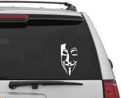 Amazon Com Haiung Car Decal Car Sticker Fashion Creative Anonymous Mask Sexy Man Strange Smiley Head Car Stickers For Car Laptop Window Sticker Home Kitchen