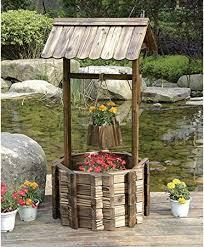 kotulas outdoor wooden wishing well