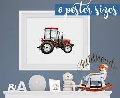 Tractor Prints For Kids Room Vehicle Nursery Transportation Etsy