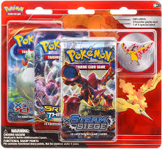 Amazon.com: Pokemon TCG: Legendary Birds Blister Pack Containing 3 Booster  Packs and Featuring A Moltres Collector's Pin: Toys & Games