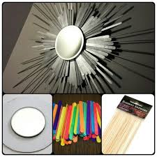a sunburst mirror i made with popsicle