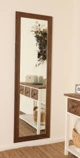Millwood Pines Dustin Wood Toned Slim Full Length Mirror | Wayfair
