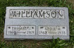 """Adeline """"Addie"""" Myers Williamson (1862-1938) - Find A Grave Memorial"""