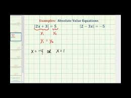 ex solving absolute value equations on