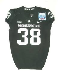 Byron Bullough Game Used & Signed Green Michigan State Spartans Nike Jersey  – Worn for 2017 Holiday Bowl Win Vs Washington State Cougars! - Big Dawg  Possessions