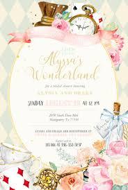 Alice In Wonderland Invite Diy Custom Girl Baby Shower Invitation