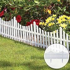 Amazon Com Jiashu 8pcs Flexible White Picket Fence Border For Garden Easy Install Insertion Soil Typelandscape Edging Outdoor Landscape Decoration Edging Yard Home Kitchen