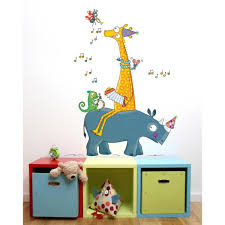Adzif 38 In X 56 In Multi Color Guinguette Kids Wall Decal L6067 Ajv5 The Home Depot