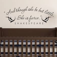 And Though She Be But Little She Is Fierce Shakespeare Vinyl Wall Quotes Stikers Decal For Room Decor Vinyl Wall Decal Vinyl Wrap Matte Blackvinyl Decal Material Aliexpress