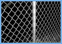 Green Vinyl Coated Chain Link Fence Panel For Farm 5mm Wire Dia