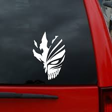 Bleach Hollow Mask Tall Vinyl Decal Window Sticker For Cars Trucks Windows Walls Laptops And More Wish