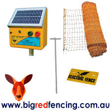 Thunderbird Solar Electric Fence Netting Kit For Poultry Big Red Fencing
