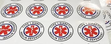 Type 1 Diabetic Medical Alert Stickers Rockadex