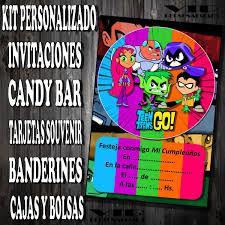Kit Imprimible Jovenes Titanes Cumpleanos 2018 280 00 En