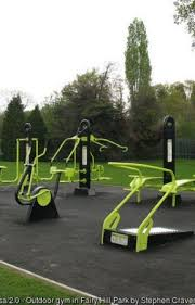 outdoor exercise machines required for