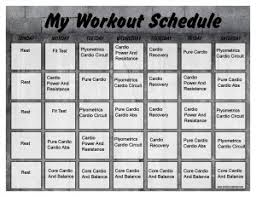 insanity workout schedule print a