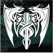 Viking Dragons Car Window Decals Stickers Decal Junky