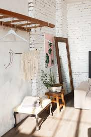 loft design room with white brick walls