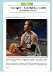 top explosive basketball exercises for