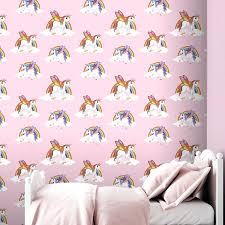 Magical Rainbow Unicorns Wallpaper Kids Girls Room Unicorn Rooms For Kids Girls Autoiq Co