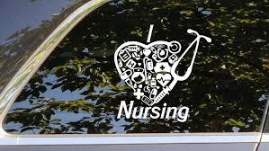 I Love Nursing Decal Nurse Vinyl Sticker Nursing Accessory Etsy Nursing Accessories Vinyl Sticker Computer Sticker
