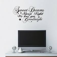 Good Night Sweet Dreams Romantic Bedroom Wall Stickers Living Room Independence