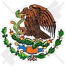 Amazon Com Escudo Mexicano Mexican Eagle Emblem Sticker Decal Calcomania Arts Crafts Sewing