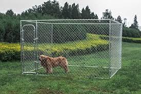 Aleko Dog Kennel 10 X 10 X 6 Diy Box Kennel Chain Link Dog Pet System Amazon Ca Home Kitchen