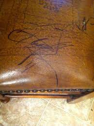permanent marker from leather furniture