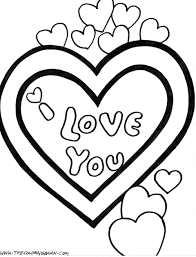 cute love coloring pages free large