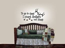 To Go To Sleep I Count Antlers Not Sheep Wall Decal Decal Etsy