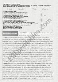 social network fce exam reading part 3
