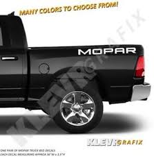 Bed Vinyl Decals Solid Fits Mopar Dodge Ram 1500 Hemi Truck Decal Graphics Ebay
